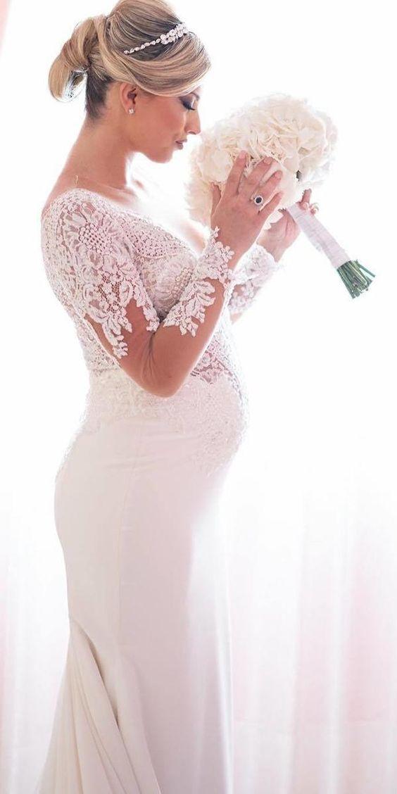 MATERNITY WEDDING DRESSES FOR MOMS-TO-BE – Wedding Estates