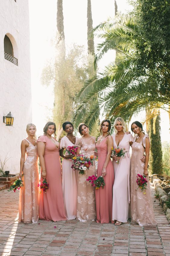 Blush Bridesmaid Dresses For Spring Wedding Estates